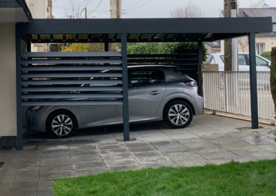 Carport aluminium adossé ou autoportée