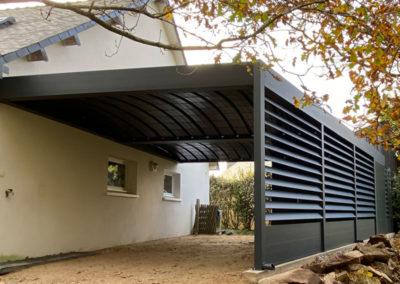 Carport abri aluminium sur mesure adossé ou autoporté sur mesure sur les départements 56-35-22-29-44