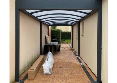 Carport Aluminium 2.86 x 8.00 m toiture Polycarbonate