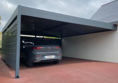 Carport aluminium sur mesure adossé ou autoporté sur mesure sur les départements 56-35-22-29-44