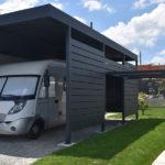 Carport camping car aluminium sur mesure adossé ou autoporté sur mesure sur les départements 56-35-22-29-44
