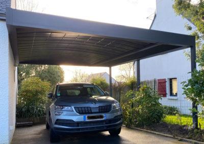 GardenKuB carport double voiture alu adossé sur mesure