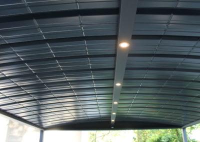 Carport aluminium avec bandeau éclairage spots LED