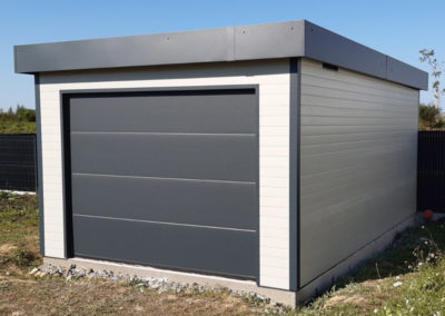 Garage acrotère en alu