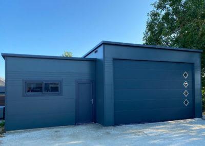 GardenKuB Garage camping-cardesign préfabriqué isolé sur mesure sans entretien