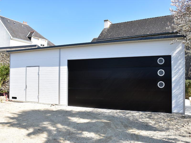 Garage design isolé en panneaux sandwich isolants