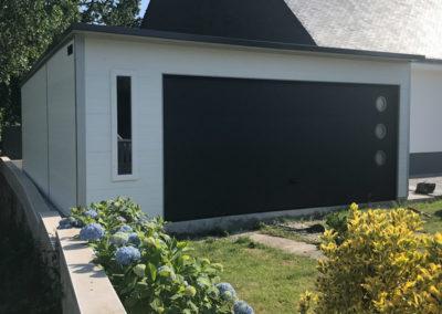 Garage isolé en trapèze 6.50-4.50x9.00m Bretagne Morbihan