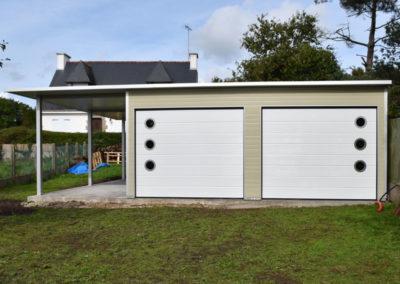 GardenKuB double garage carport préfabriqué isolé sur mesure design
